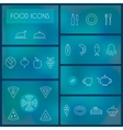 Set of food thin line icons for web and mobile vector image