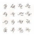 set of handwritten letters vector image