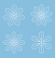set of simple round mandala snowflakes on blue vector image vector image