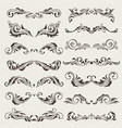 set of swirl elements for design vector image vector image