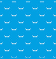 shield wing pattern seamless blue vector image