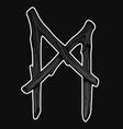 sketch scandinavian viking runes vector image