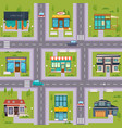 suburb street cafe map seamless vector image