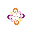 swirl decorative abstract logo vector image vector image