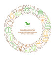tea related banner card circle vector image vector image