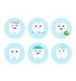 teeth clean floss toothpaste and bubbles foam vector image