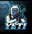 yeti esport logo mascot design vector image vector image