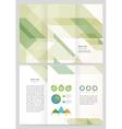 brochure template design vector image