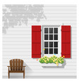 architectural element window background 3 vector image