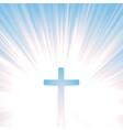 heaven christian cross vector image