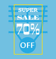 a picture on the subject of discounted sales vector image vector image