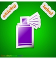 Aerosol paint icon sign Symbol chic colored sticky vector image