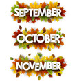autumn banners with colorful leaves vector image vector image