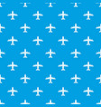 aviation pattern seamless blue vector image vector image