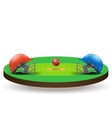 Background of Cricket competition vector image vector image