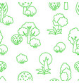 background seamless pattern trees vector image vector image