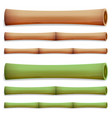 bamboo stems isolated green and brown sticks