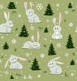 bunnies christmas vector image