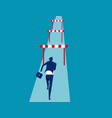 businessman hurdler concept business success vector image vector image