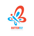 butterfly insect logo template beauty vector image vector image