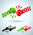 buysell vector image vector image