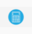 calculator icon sign symbol vector image vector image