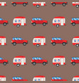Campers vacation travel car summer seamless