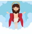 cartoon jesus christ ascension design vector image vector image