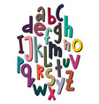 children s font in creative abstract style vector image