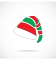 Christmas Elf Cap isolated over white vector image vector image