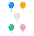 colorful balloons 02 collection vector image