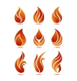 Flame symbols vector image vector image