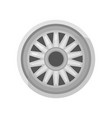 flat icon of gray car disk alloy wheel of vector image vector image