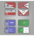 four business card set vector image