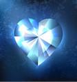 frozen heart vector image