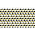 geometric seamless pattern in trendy gray yellow vector image vector image
