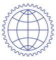 globe in gear vector image vector image
