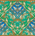 Gold baroque striped seamless pattern blue and