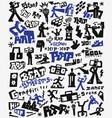 graffiti rap doodles vector image vector image