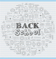hand drawn back to school doodles school supplies vector image vector image
