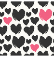 Hand Painted Hearts Pattern vector image vector image