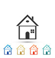 house icon on white background home symbol vector image vector image