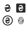 hryvnia currency symbol vector image vector image