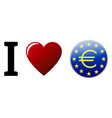 I Love Euro vector image