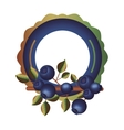 Isolated blueberry fruit with leaves design vector image