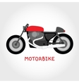 Isolated motorbike vector image