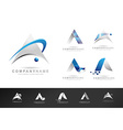letter a logo designs creative abstract letter a vector image