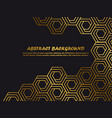 luxury minimal background template with golden vector image