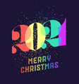 merry christmas 2021 greeting card vector image vector image