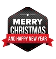 Merry Christmas and Happy New Year patch vector image vector image
